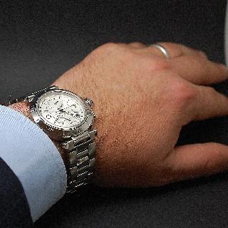 Montre Cartier Pasha C en acier 35 mm. Automatique. Vers 2000