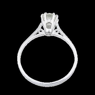Solitaire en Or gris 18 Cts avec Diamant brillant 0,56 Cts I-SI1 (HRD)