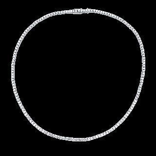 Collier Ligne Or gris 18k avec 10,03 Cts de Diamants brillants  . 43 cm
