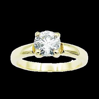Broche en Or 18 Cts et Platine Vers 1950 avec Diamants.