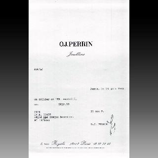 Collier OJ Perrin , Tubogaz Vers 1965 en Or rose 18k, Platine et Diamants.