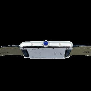 Montre Cartier Must Tank en Argent Homme vers 2000. Quartz . Réf : 2414.