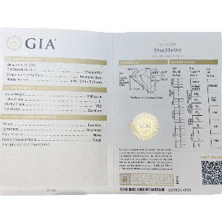 Solitaire Or gris 18k  Diamant de 0,80 Ct  F-VS2 (GIA)