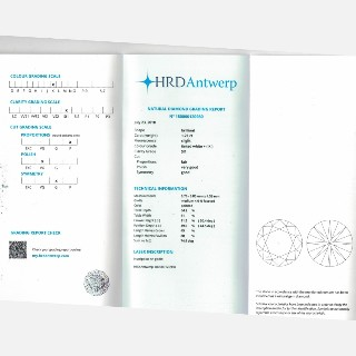 Puces d'oreilles Or gris 18k avec Diamants brillants 1.22 Cts et 1.21Cts. K-SI1 (HRD)