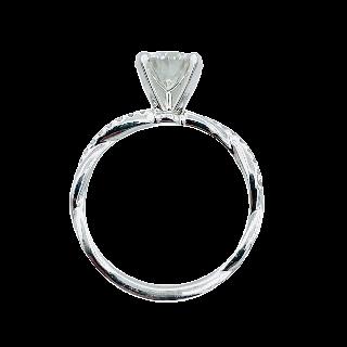 Solitaire en Platine avec Diamant Brillant de 1,20 Ct H-VVS2 .Certificat GIA