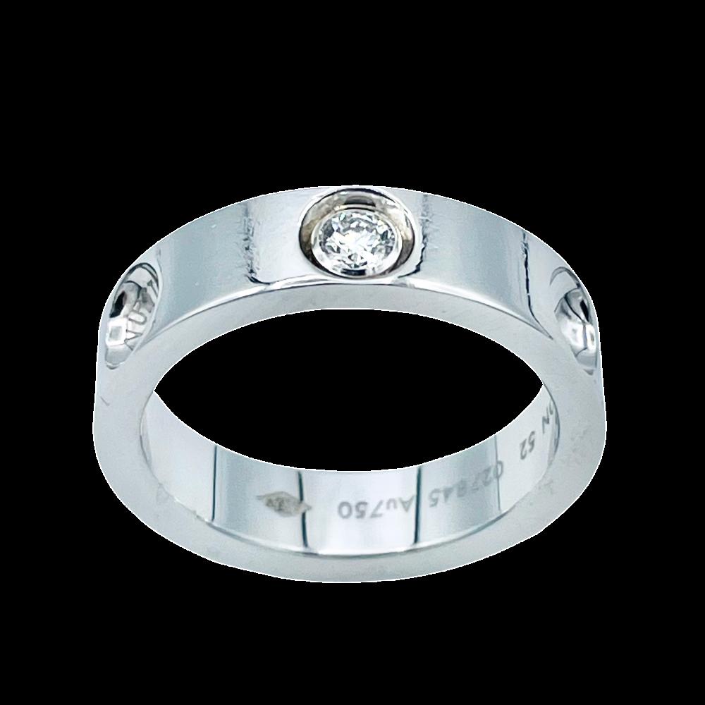 """Bague Louis Vuitton """"Empreinte"""" Or gris 18k Diamant . Taille 52"""