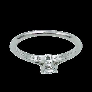Solitaire Cartier 1895 Platine Diamant brillant de 0.60 Cts.G /VS2. (GIA)