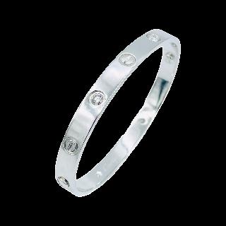 Bague en or gris 18k avec un Diamant brillant de 1.65 Cts Qualité G-VS2 + 1.0 Ct  G-VS.