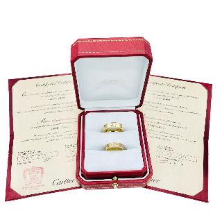 Bague Cartier Love Or jaune 18K et Pavé Diamants de 2019  Taille 53.