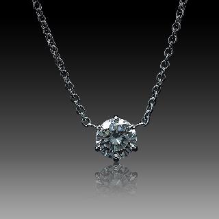 Collier Pendentif Diamant de 1.19 Cts J-SI2 . Or 18 Cts.