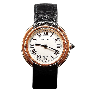 """Montre Cartier homme """"Vendome"""" Or Jaune 18k Vers 1983. Mécanique ."""