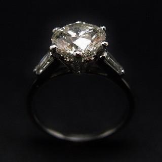 Solitaire Diamant de 2,09 Cts K-VS1 . Or 18 Cts et Platine