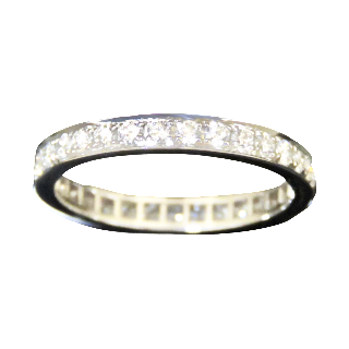 "Alliance Mauboussin ""Dream and Love"" Diamants. Or gris 18k .Taille 53."