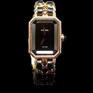 Montre Chanel Premiere Plaqué or vers 1990 Quartz. Boite d'origine. Taille S