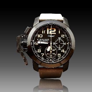 Montre Graham Chronofighter Oversize Acier vers 2013 Automatique. 47 mm.