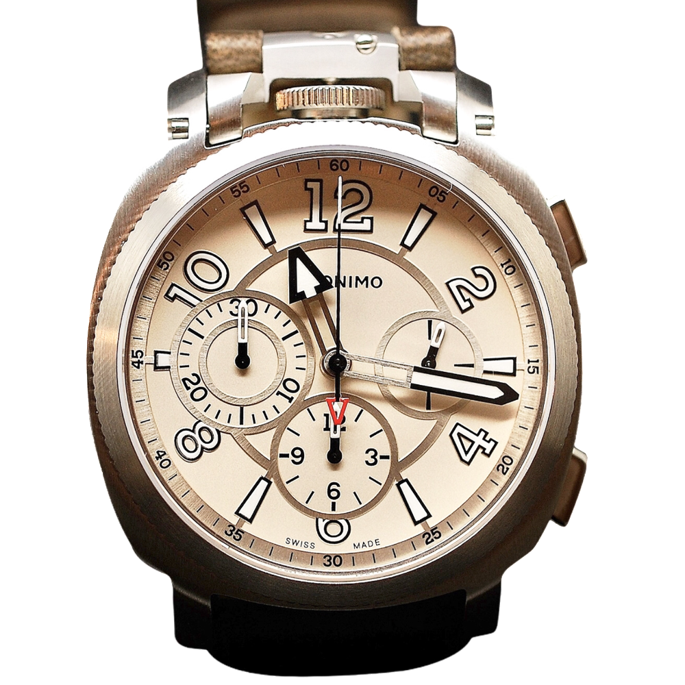 "Montre Anonimo ""Chronographe"" 43mm Acier Automatique Collection 2013. Destockage Neuf."