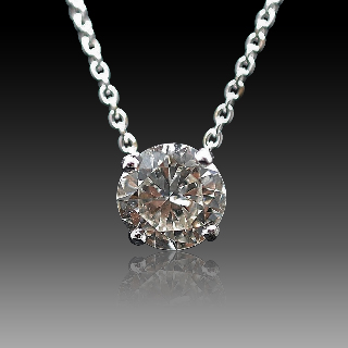 Collier Pendentif Diamant de 1.69 Cts J-VS1 . Or 18 Cts.