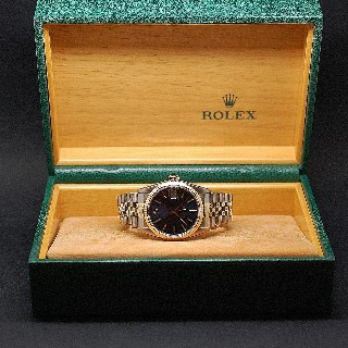 Montre Rolex Oyster Datejust Médium Or et Acier de 1986 . Cadran Bleu. Ref : 68273 .
