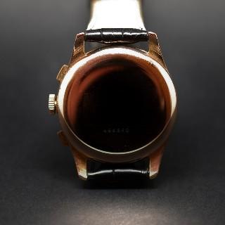 Montre Leonidas Vintage Chronographe Or rose 18k mécanique Vers 1945.
