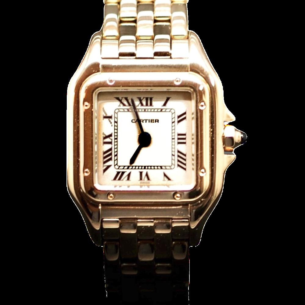 """Montre Cartier dame """"Panthère"""" Or 18k massif quartz Vers 1995."""