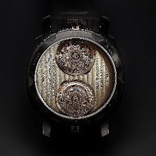 """Montre Anonimo """"Dual-Time"""" 43mm Acier Automatique Collection 2013. Destockage Neuf."""