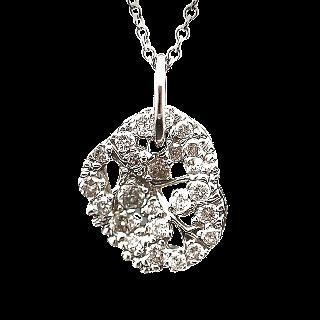 Collier Pendentif  Stern en Or gris 18k avec Diamants.