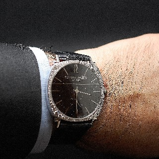Montre Chaumet Dandy Joaillerie Or gris 18k Diamants mécanique de 2015.