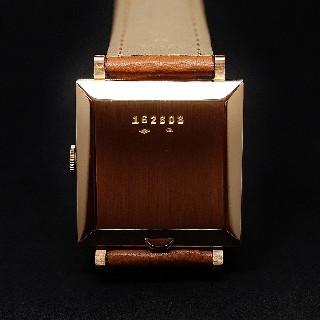 Montre Jaeger LeCoultre Vintage Carrée Or 18k Automatique Vers 1960.