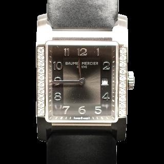 Montre Baume et Mercier Dame Hampton Diamants Acier Quartz de décembre 2015.