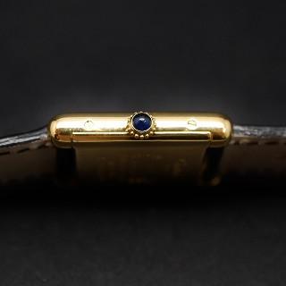 """Montre Cartier Dame """"Must Tank"""" Vermeil mécanique de 1980. Boite et Papiers."""