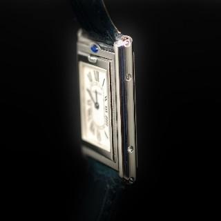 Montre Cartier Tank Basculante Médium Quartz en acier Vers 2000.