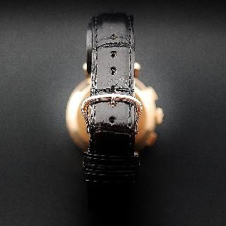 Montre Jaeger Vintage Chronographe Or rose 18k Mécanique Vers 1945.