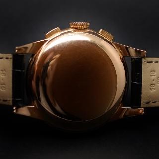 Montre Longines Vintage Chronographe Or rose 18k mécanique Vers 1945.