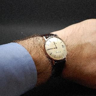 """Montre Eterna Vintage """"Centenaire"""" Homme en Or rose 18k Automatique Vers 1960."""