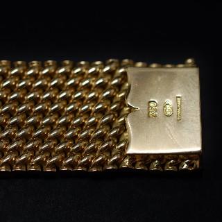 Montre Bracelet Ceiture signée Rolex vers 1960 en or rose 18k mécanique.