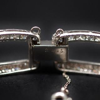 Bracelet Art Déco platine et diamants ronds avec 8.30 cts, vers 1925.