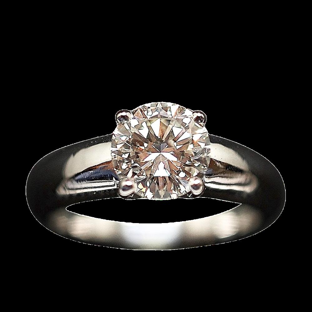 Solitaire Jonc Diamant de 1,29 Cts J-P1 en Or 18k