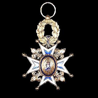 Grande Croix de l'Ordre de Chevalier de l'ordre de Charles III d'Espagne en or 18k et email Vers 1890.