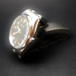 Montre Rolex Vintage Air king Acier de 1966 . Cadran noir. Ref : 5500.