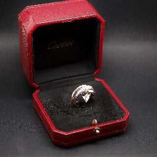 Alliance Cartier Trinity Or 18k Diamants Modèle Moyen Grand . Taille 53