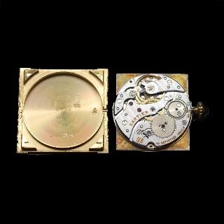 """Montre Cartier """"Tank Louis Cartier """"Extraplate Or Jaune 18k Vers 1980 Mécanique"""