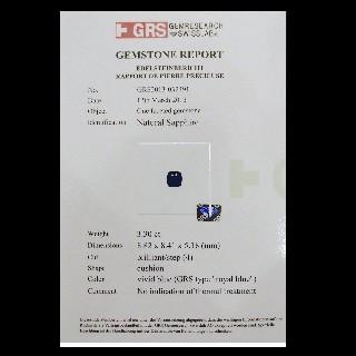 Bague Or gris 18 k Saphir 3.3 Ct Naturel non Chauffé Royal blue et Diamants .