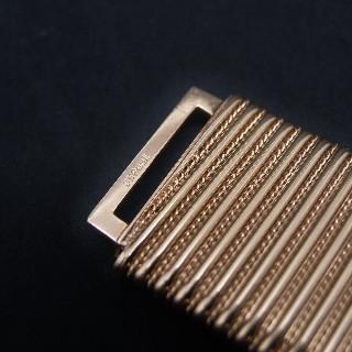 "Bracelet ""manchette"" spirotube plat en or jaune 18 Carats .66.6 gr. vers 1950"