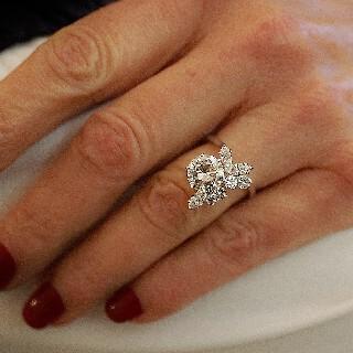 Bague en or gris 18k avec Diamant  2.47 Ct Qualité L-VS1 + 1.0 Carat G-VS.
