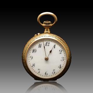 Montre de Col de Dame en or 18 Cts vers 1895