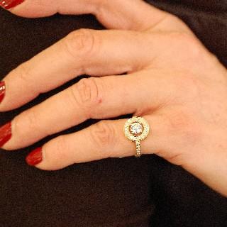 """Bague Boucheron """"Ava rond"""" en Or jaune 18k et diamants.Taille 49-50"""