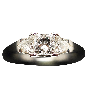 Alliance or gris 18k avec 1.70 Cts Diamants Brillants . Taille 53.