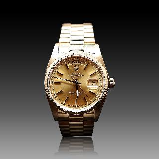 Montre Rolex Day-Date Homme Or jaune 18k de 1982. Ref: 18038.