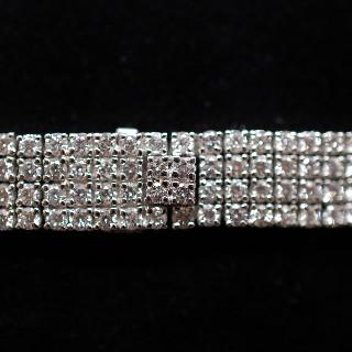Bracelet en or gris 18 Cts avec 13.58 Cts de Diamants H-VS.