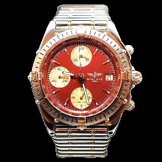 Montre Breitling Chronomat Or et Acier Vers 1990 Automatique.